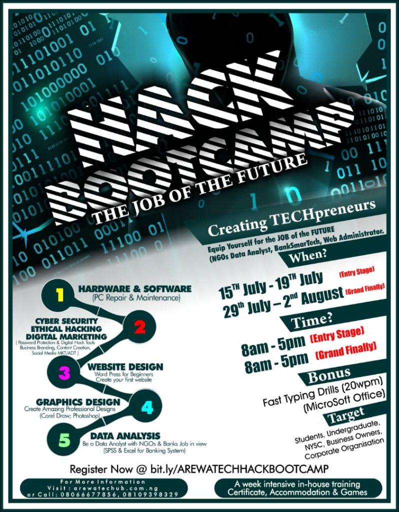 arewatechub hack bootcamp 1.0